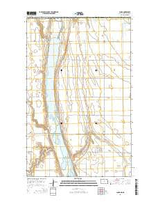 Landa North Dakota Current topographic map, 1:24000 scale, 7.5 X 7.5 Minute, Year 2014