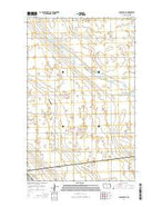 Lansford NE North Dakota Current topographic map, 1:24000 scale, 7.5 X 7.5 Minute, Year 2014 from North Dakota Map Store