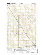 Lansford NW North Dakota Current topographic map, 1:24000 scale, 7.5 X 7.5 Minute, Year 2014 from North Dakota Map Store