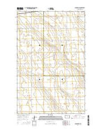 Lansford SW North Dakota Current topographic map, 1:24000 scale, 7.5 X 7.5 Minute, Year 2014 from North Dakota Map Store