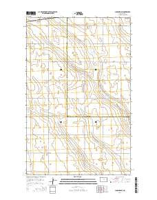 Lansford SW North Dakota Current topographic map, 1:24000 scale, 7.5 X 7.5 Minute, Year 2014
