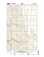Larimore SW North Dakota Current topographic map, 1:24000 scale, 7.5 X 7.5 Minute, Year 2014 from North Dakota Map Store