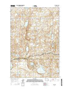 Lehr North Dakota Current topographic map, 1:24000 scale, 7.5 X 7.5 Minute, Year 2014