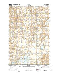 Lehr NW North Dakota Current topographic map, 1:24000 scale, 7.5 X 7.5 Minute, Year 2014