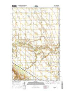 Leroy North Dakota Current topographic map, 1:24000 scale, 7.5 X 7.5 Minute, Year 2014 from North Dakota Map Store