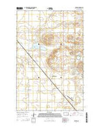 Leverich North Dakota Current topographic map, 1:24000 scale, 7.5 X 7.5 Minute, Year 2014 from North Dakota Map Store