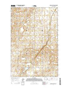 Lincoln Valley SW North Dakota Current topographic map, 1:24000 scale, 7.5 X 7.5 Minute, Year 2014