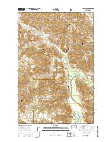 Lone Butte NE North Dakota Current topographic map, 1:24000 scale, 7.5 X 7.5 Minute, Year 2014