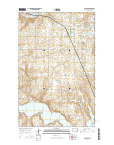 Lostwood North Dakota Current topographic map, 1:24000 scale, 7.5 X 7.5 Minute, Year 2014