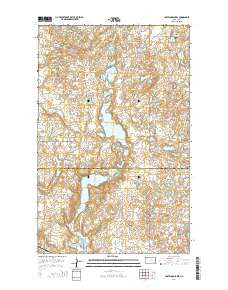 Lostwood Lakes North Dakota Current topographic map, 1:24000 scale, 7.5 X 7.5 Minute, Year 2014
