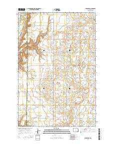 Luverne NW North Dakota Current topographic map, 1:24000 scale, 7.5 X 7.5 Minute, Year 2014