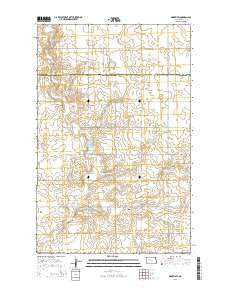Makoti SW North Dakota Current topographic map, 1:24000 scale, 7.5 X 7.5 Minute, Year 2014