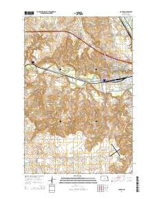 Mandan North Dakota Current topographic map, 1:24000 scale, 7.5 X 7.5 Minute, Year 2014