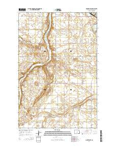 Manfred NW North Dakota Current topographic map, 1:24000 scale, 7.5 X 7.5 Minute, Year 2014