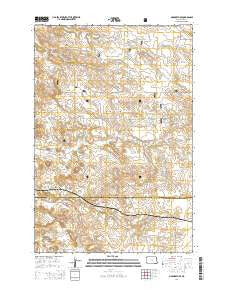 Marmarth SE North Dakota Current topographic map, 1:24000 scale, 7.5 X 7.5 Minute, Year 2014
