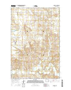 Marshall North Dakota Current topographic map, 1:24000 scale, 7.5 X 7.5 Minute, Year 2014