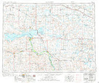 McClusky North Dakota Historical topographic map, 1:250000 scale, 1 X 2 Degree, Year 1954