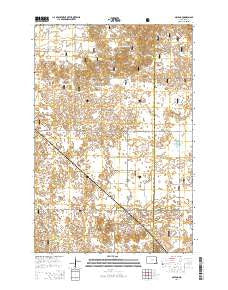 McLeod North Dakota Current topographic map, 1:24000 scale, 7.5 X 7.5 Minute, Year 2014