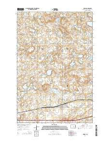 Medina North Dakota Current topographic map, 1:24000 scale, 7.5 X 7.5 Minute, Year 2014