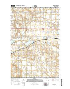 Menoken North Dakota Current topographic map, 1:24000 scale, 7.5 X 7.5 Minute, Year 2014
