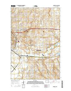 Menoken SW North Dakota Current topographic map, 1:24000 scale, 7.5 X 7.5 Minute, Year 2014