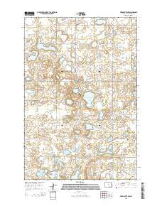 Merricourt NW North Dakota Current topographic map, 1:24000 scale, 7.5 X 7.5 Minute, Year 2014