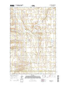 Millarton North Dakota Current topographic map, 1:24000 scale, 7.5 X 7.5 Minute, Year 2014