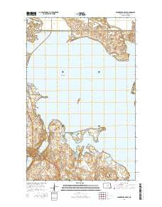 Minnewaukan East North Dakota Current topographic map, 1:24000 scale, 7.5 X 7.5 Minute, Year 2014