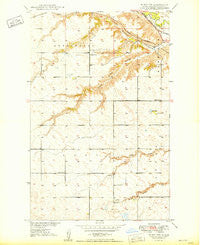 Minot NW North Dakota Historical topographic map, 1:24000 scale, 7.5 X 7.5 Minute, Year 1949