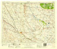 Minot North Dakota Historical topographic map, 1:250000 scale, 1 X 2 Degree, Year 1958