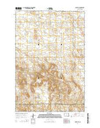 Moffit NW North Dakota Current topographic map, 1:24000 scale, 7.5 X 7.5 Minute, Year 2014 from North Dakota Map Store