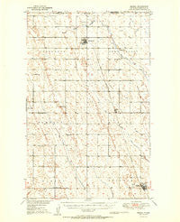 Mohall North Dakota Historical topographic map, 1:62500 scale, 15 X 15 Minute, Year 1950