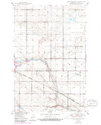 New Rockford NE North Dakota Historical topographic map, 1:24000 scale, 7.5 X 7.5 Minute, Year 1950