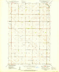 New Rockford SE North Dakota Historical topographic map, 1:24000 scale, 7.5 X 7.5 Minute, Year 1950
