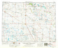 New Rockford North Dakota Historical topographic map, 1:250000 scale, 1 X 2 Degree, Year 1952