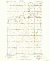 Newburg SE North Dakota Historical topographic map, 1:24000 scale, 7.5 X 7.5 Minute, Year 1950