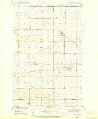 Newburg North Dakota Historical topographic map, 1:24000 scale, 7.5 X 7.5 Minute, Year 1950