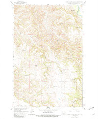 North Killdeer Mountain North Dakota Historical topographic map, 1:24000 scale, 7.5 X 7.5 Minute, Year 1958