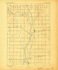 Oakes North Dakota Historical topographic map, 1:62500 scale, 15 X 15 Minute, Year 1894