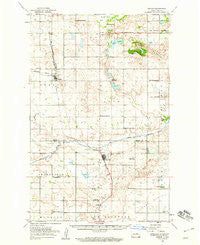Oberon North Dakota Historical topographic map, 1:62500 scale, 15 X 15 Minute, Year 1950