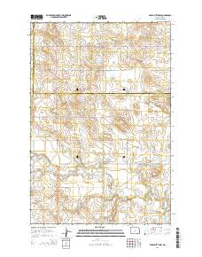 Pearl Butte NW North Dakota Current topographic map, 1:24000 scale, 7.5 X 7.5 Minute, Year 2014