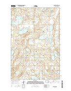 Pettibone North Dakota Current topographic map, 1:24000 scale, 7.5 X 7.5 Minute, Year 2014 from North Dakota Map Store