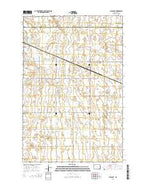 Pillsbury North Dakota Current topographic map, 1:24000 scale, 7.5 X 7.5 Minute, Year 2014 from North Dakota Map Store