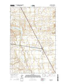 Pingree North Dakota Current topographic map, 1:24000 scale, 7.5 X 7.5 Minute, Year 2014
