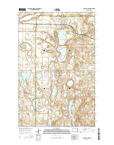 Pleasant Lake North Dakota Current topographic map, 1:24000 scale, 7.5 X 7.5 Minute, Year 2014