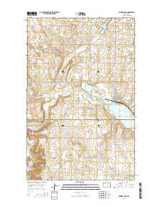 Powers Lake North Dakota Current topographic map, 1:24000 scale, 7.5 X 7.5 Minute, Year 2014