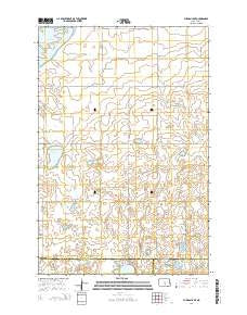 Pursian Lake North Dakota Current topographic map, 1:24000 scale, 7.5 X 7.5 Minute, Year 2014