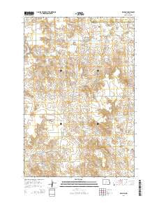 Raleigh North Dakota Current topographic map, 1:24000 scale, 7.5 X 7.5 Minute, Year 2014