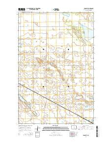 Rangeley North Dakota Current topographic map, 1:24000 scale, 7.5 X 7.5 Minute, Year 2014
