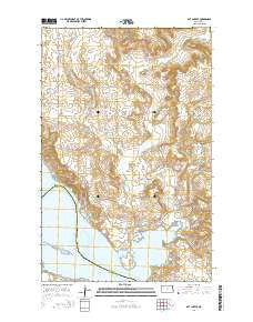 Rat Lake SE North Dakota Current topographic map, 1:24000 scale, 7.5 X 7.5 Minute, Year 2014